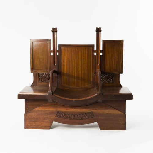 Italie, Banc d'attente / mobilier de réception, c. 1910, H. 128,5 x 140,5 x 55 c…
