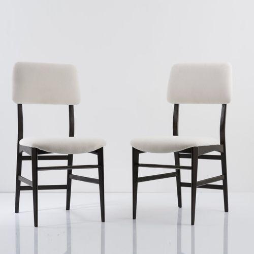 Edmondo Palutari, 2 chaises latérales, années 1950, H. 91 x 44 x 58 cm. Fabriqué…