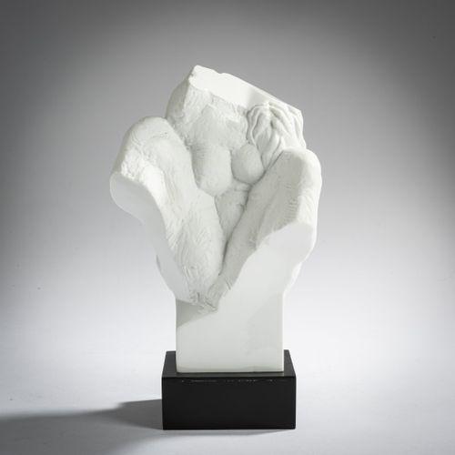 Wieland Förster (1930 Dresde), 'Einblick in eine Sitzende', 1986, Bisque, sectio…
