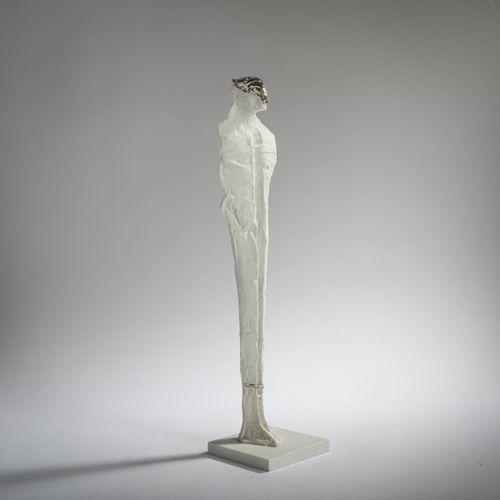 Thomas Duttenhoefer (1950 Speyer), 'Kleiner Lazarus', 1986, Bisque, partiellemen…