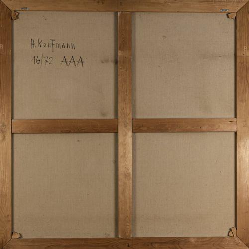 Herbert Kaufmann (1924 Aix la Chapelle 2011 Düsseldorf), 'AAA', 1972, Huile sur …