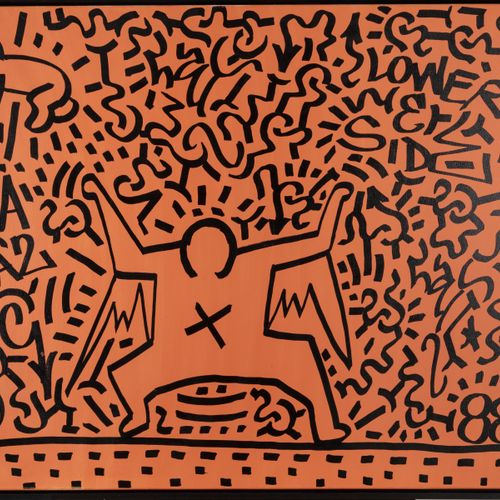 Angel Ortiz (LA II) ; Keith Haring (attr.), 'Lower East Side', 1988, Acrylique s…