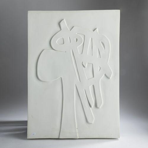 """Étienne Hajdú (1907 Turda 1996 Bagneux), """" Tête """", 1968, relief en porcelaine. 6…"""