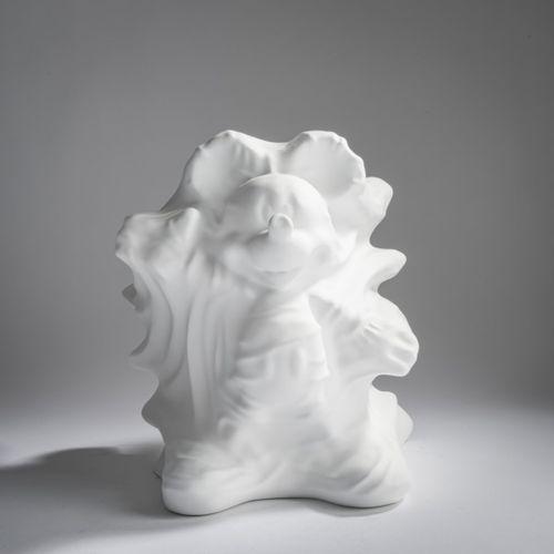 Daniel Arsham (1980 Cleveland, Ohio), 'Hollow Mickey (white)', 2019, Résine, mou…