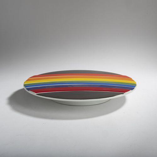 Otto Piene (1928 Bad Laasphe 2014 Berlin), Assiette du Nouvel An en porcelaine, …