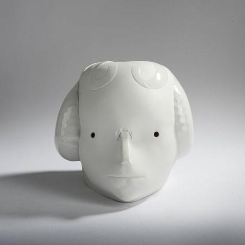 Joachim Schmettau (1937 Bad Doberan), 'Kopf mit Frisur', 1986, Bisque, partielle…