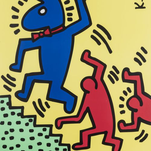 Keith Haring (1958 Reading, PA 1990 New York City) (après), Poster 'Bunny on the…