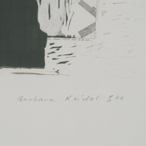 Barbara Keidel (1939 Berlin), Sans titre, 1996, Impression sur un fac similé (pl…