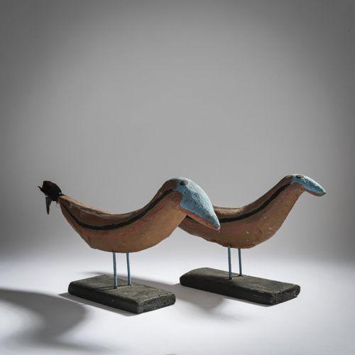 Erich Bödeker (1904 Recklinghausen 1971 ibid.), Paire d'oiseaux (coq et poule), …