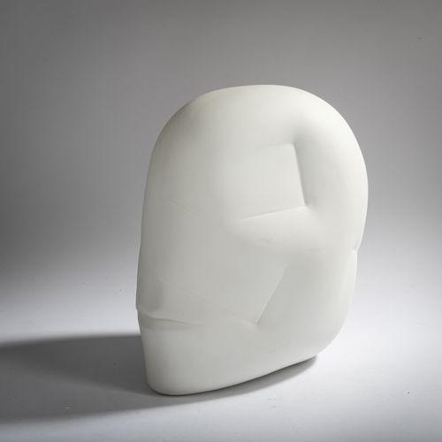 Hede Bühl (1940 Haan), 'Kopf', 1986, Bisque. 29,5 x 21,0 x 30,5 cm. Signé sur un…