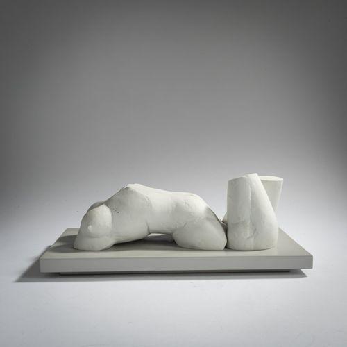 Richard Hess (1937 Berlin 2017 ibid.), 'Frau im Wasser', 1986, Bisque sur socle …