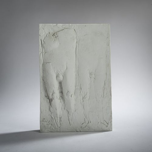 Gustav Seitz (1906 Mannheim 1969 Hambourg), 'Torsi', 1968, Relief en porcelaine.…