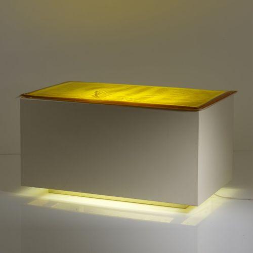 Anton Henning (1964 Berlin), 'Mintrex', 2002, Boîte à lumière en bois laqué, ver…