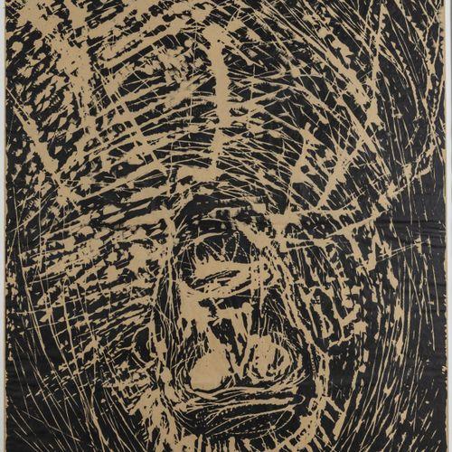 Georg Baselitz (1938 Großbaselitz vit à Salzbourg), 'Kopf für Krater und Wolke',…