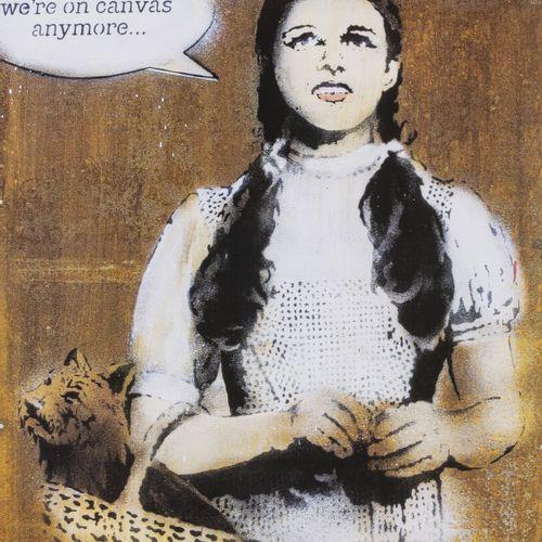 Banksy (vit à Bristol), 'Banksy vs Bristol Museum I don't think we're on canvas …