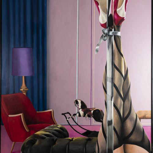 Richard Klingshirn (1941 Weilheim), 'Herrenzimmer', c. 2013, Huile sur toile. 15…