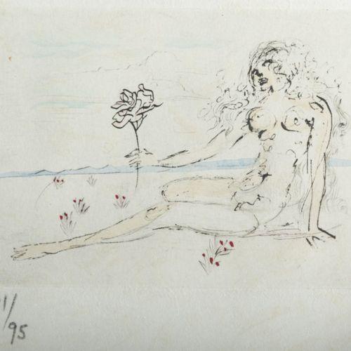 Salvador Dalí (1904 Figueres 1989 ibid.), 'Petits Nus d'Apollinaire', 1967, eau …