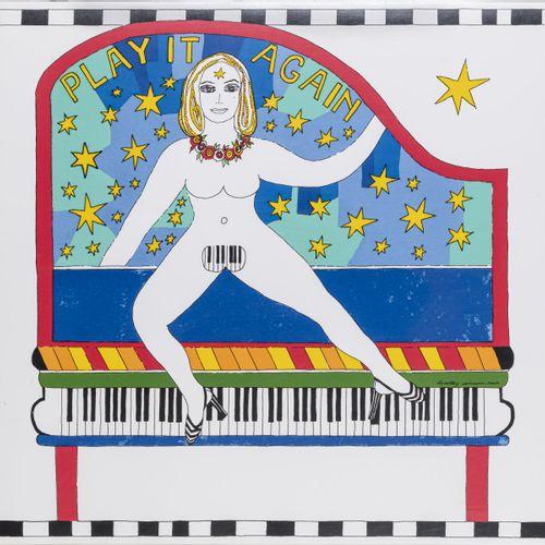 Dorothy Iannone (1933 Boston), 'Play it again', 2007, Sérigraphie couleur sur pa…