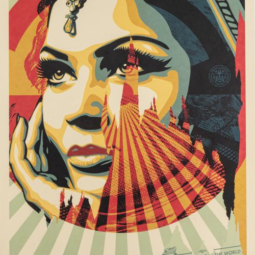 Shepard Fairey (1970 Charleston), 'Target Exceptions', 2020, Lithographie offset…