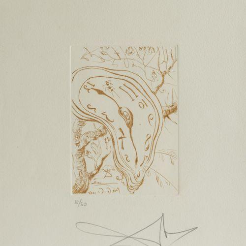 Salvador Dalí (1904 Figueres 1989 ibid.), 'Melting Clock', 1968, gravure sur pap…
