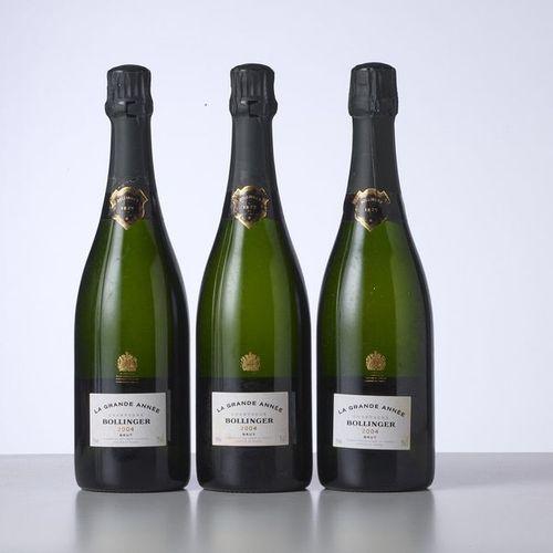 3 Bouteilles CHAMPAGNE LA GRANDE ANNEE  Année : 2004  Appellation : Bollinger  R…