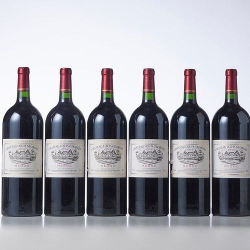 6 Magnums CHÂTEAU LOUIS GEORGES  Year: 2005  Appellation : Médoc  Remarks : (2 h…