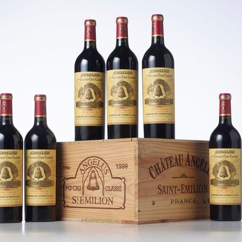 6 Bottles CHÂTEAU ANGELUS  Year: 1999  Appellation: GCC1B Saint Emilion  Packagi…