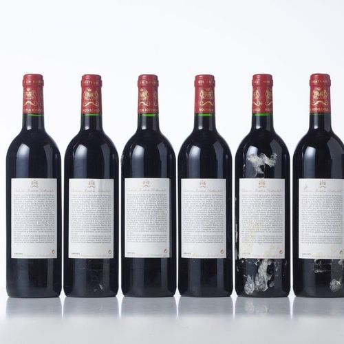 6 Bottles CHATEAU MOUTON ROTHSCHILD  Year: 1996  Appellation: GCC1 Pauillac  Pac…