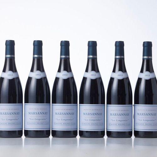 6 Bottles MARSANNAY LES LONGEROIES Red  Year: 2012  Appellation : Domaine Bruno …