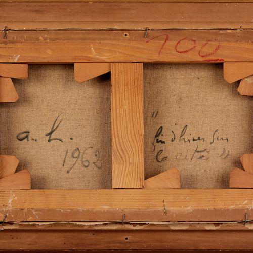 André HAMBOURG 1909 1999  FIN D'HIVER SUR L'ÎLE DE LA CITÉ  Huile sur toile sign…