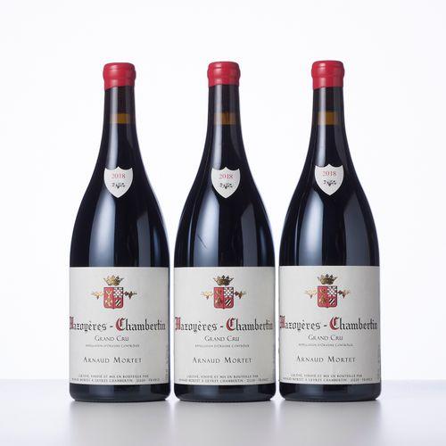 3 Magnums MAZOYERES CHAMBERTIN (Grand Cru)  Année : 2018  Appellation : Arnaud M…