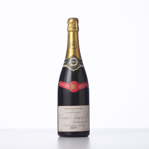 1 Bouteille CHAMPAGNE EXTRA BRUT RESERVE CUVEE  Année : 1966  Appellation : Perr…