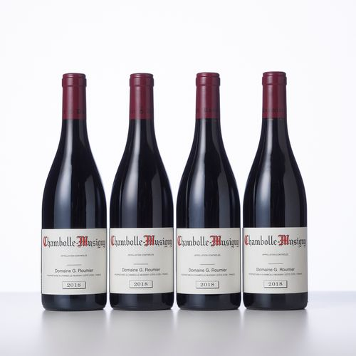 4 Bouteilles CHAMBOLLE MUSIGNY  Année : 2018  Appellation : Domaine Georges Roum…