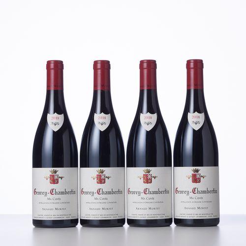 "4 Bouteilles GEVREY CHAMBERTIN ""MA CUVEE""  Année : 2018  Appellation : Arnaud Mo…"