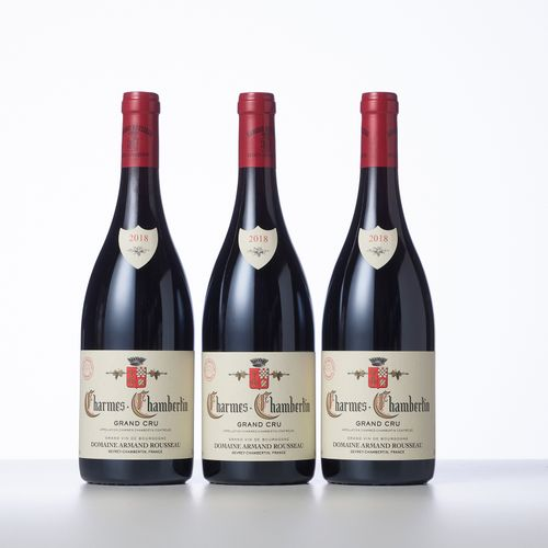 3 Bouteilles CHARMES CHAMBERTIN (Grand Cru)  Année : 2018  Appellation : Domaine…
