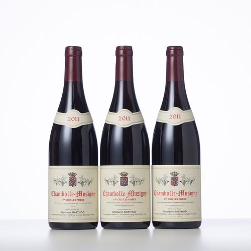 3 Bouteilles CHAMBOLLE MUSIGNY LES FUEES (1° Cru)  Année : 2011  Appellation : D…