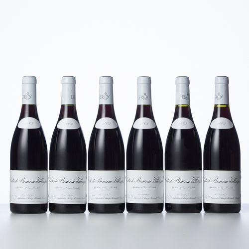 6 Bouteilles CÔTE DE BEAUNE VILLAGES Rouge  Année : 2003  Appellation : Leroy S.…