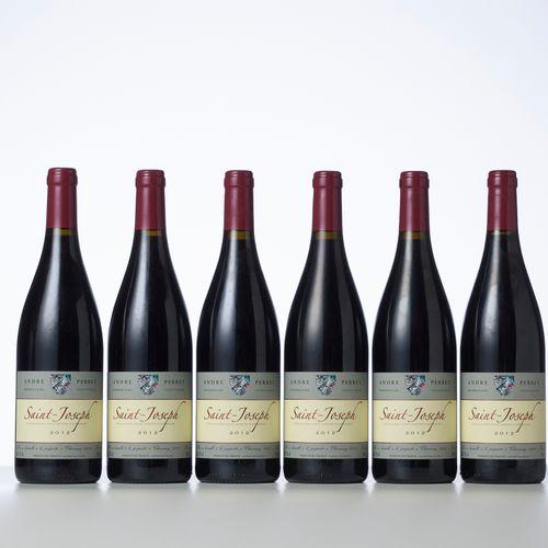 6 Bouteilles SAINT JOSEPH Rouge  Année : 2012  Appellation : Domaine André Perre…