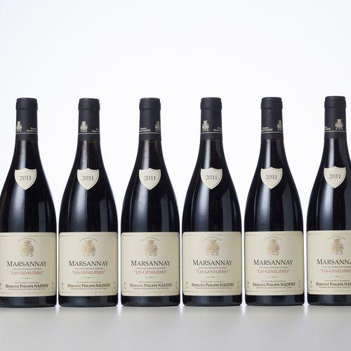 6 Bouteilles MARSANNAY LES GENELIERES Rouge  Année : 2011  Appellation : Domaine…