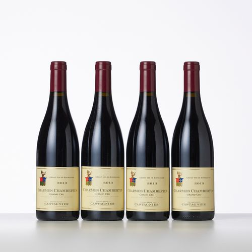 4 Bouteilles CHARMES CHAMBERTIN (Grand Cru)  Année : 2013  Appellation : Domaine…