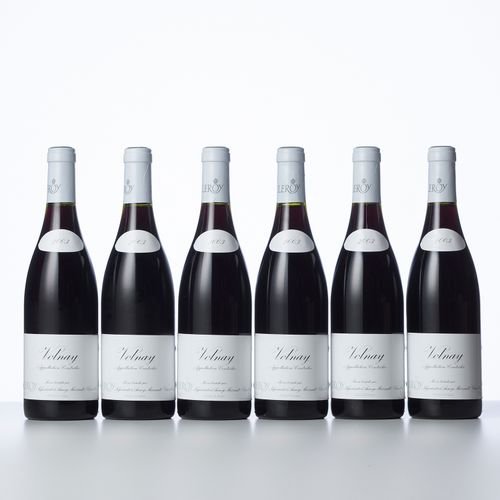 6 Bouteilles VOLNAY  Année : 2003  Appellation : Leroy S.A