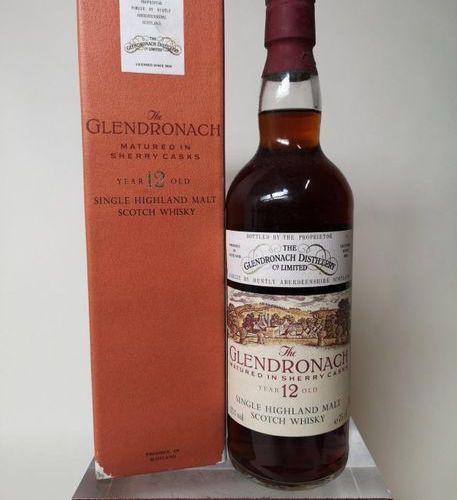 """1 bouteille WHISKY GLENDRONACH 12 ANS SINGLE HIGHLAND MALT WHISKY """"Sherry Cask"""""""