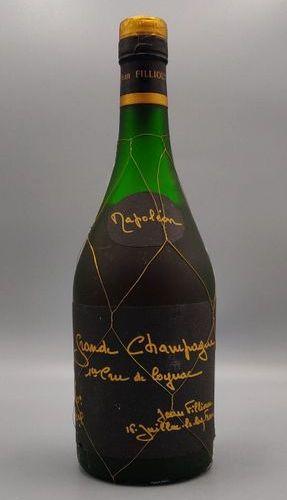 """A bottle of Cognac, """"Grande Champagne"""" Jean Fillioux (70 cl) low level."""