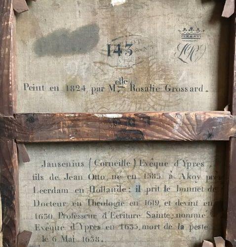 Mlle Rosalie GROSSARD (active en France au XIXe siècle) Portrait de Jansenius Co…