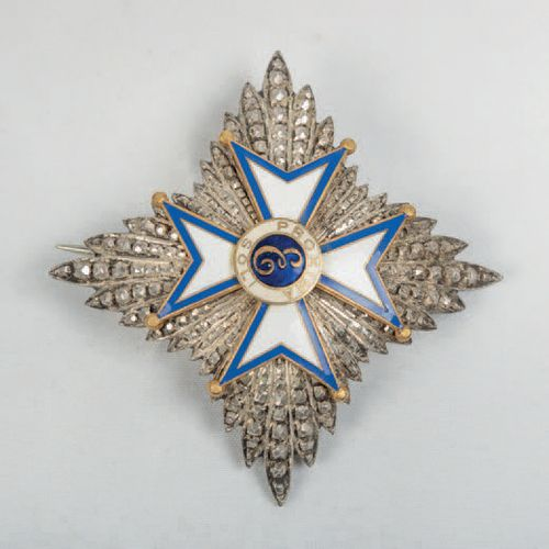 """Breast plate made in silver and enamel of the Order """"Proxima Soli"""". Period: Mid …"""