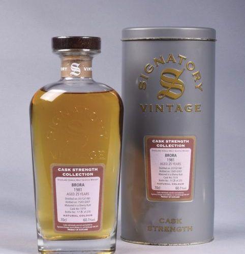 "Bouteille de whisky Ecossais Signatory Vintage, ""Cask Strength Collection, Brora…"