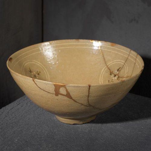 Korean bowl , Koryo period, c. 12° 13° century Sandstone with celadon cover. D. …