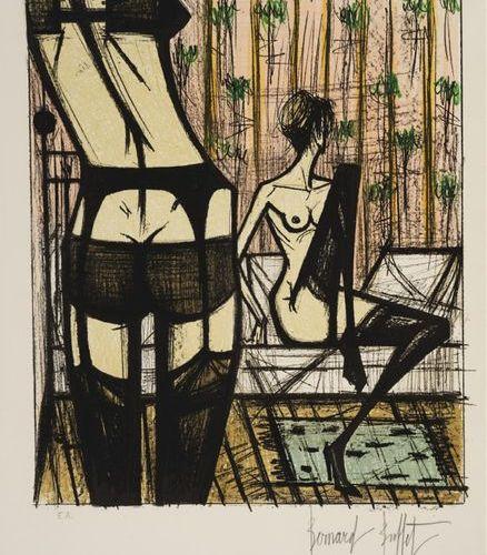 Bernard BUFFET (1928 1999) JEU DE DAMES, 1970 (Sorlier, 208) Lithograph in 7 col…