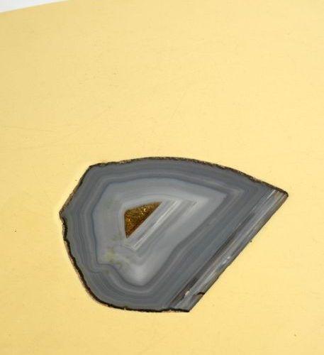 BARBIER PHILIPPE (XXe) Table basse Métal, résine et pierre Date de création : ve…