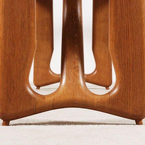 GUILLERME & CHAMBRON Extendable dining table Oak Edition Votre Maison Date of cr…
